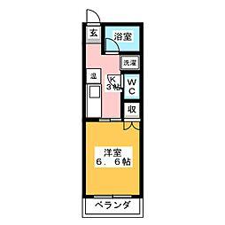 白鳳ハイツ[1階]の間取り