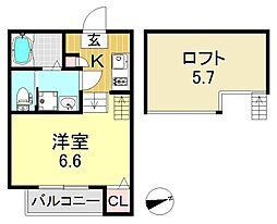 cozy palace(コージーパレス)[2階]の間取り