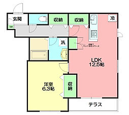 casapassione[1階]の間取り