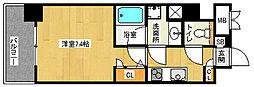 「アスヴェル京都市役所前II」[4階]の間取り