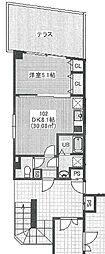 JR総武線 幕張駅 徒歩10分の賃貸マンション 1階1DKの間取り
