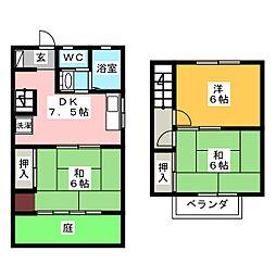 [テラスハウス] 岡山県岡山市北区広瀬町 の賃貸【/】の間取り