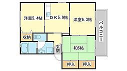 シャーメゾン片山[B201号室]の間取り