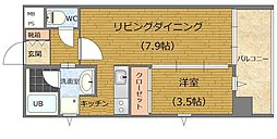 J-PLACE古小烏 6階1LDKの間取り