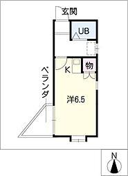 メゾンドールエスト[3階]の間取り