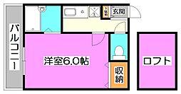 東京都練馬区南田中3丁目の賃貸アパートの間取り