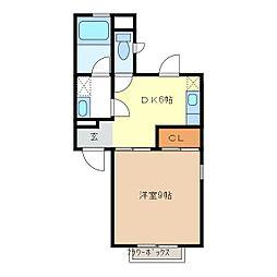 ボヌール・コミヤマ[1階]の間取り