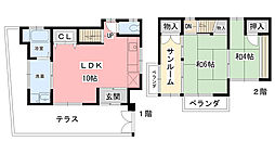 [一戸建] 兵庫県西宮市熊野町 の賃貸【/】の間取り