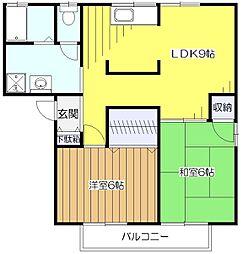 ミヨシハイム[2階]の間取り