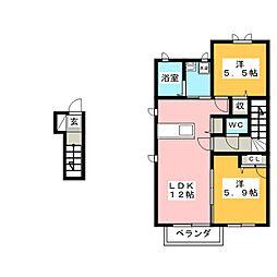 コンフォートリンナ 1番館[2階]の間取り