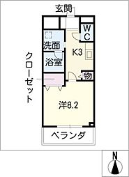 maeyama FLAT[2階]の間取り