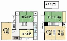 [一戸建] 京都府城陽市平川大将軍 の賃貸【/】の間取り