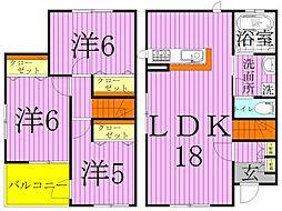 [タウンハウス] 東京都足立区西保木間1丁目 の賃貸【/】の間取り