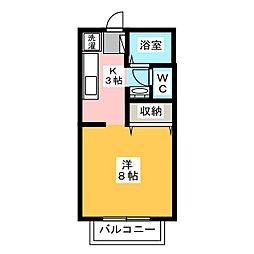 サンガーデン美浜 B棟[2階]の間取り