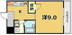 ジュネス京田辺[3階]の間取り