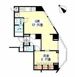プライムアーバン目黒青葉台 10階2LDKの間取り