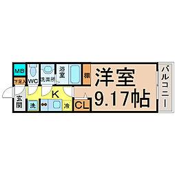 愛知県名古屋市中区正木4丁目の賃貸マンションの間取り