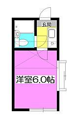 プラザドゥ・エクシード[1階]の間取り