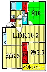 リ・ヴラン東川口 II[1階]の間取り