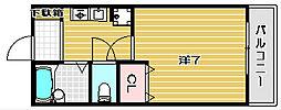 プリマ富田[108h号室]の間取り