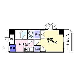メゾン住吉弐番[8階]の間取り