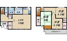 [テラスハウス] 大阪府豊中市北条町3丁目 の賃貸【/】の間取り