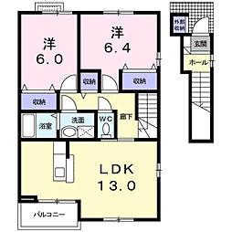 [タウンハウス] 富山県富山市婦中町下轡田 の賃貸【/】の間取り