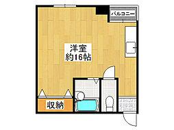 富沢マンション[4階]の間取り