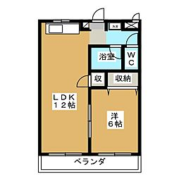 エディフィス岡本[2階]の間取り