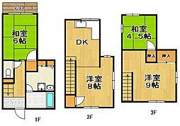 [一戸建] 福岡県福岡市中央区今川1丁目 の賃貸【/】の間取り