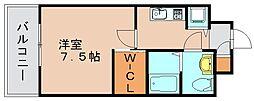 レジデンス箱崎[6階]の間取り