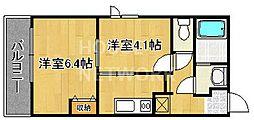 グランメール銀閣寺[202号室号室]の間取り
