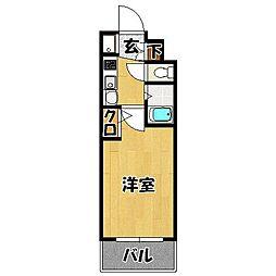 エステムコート博多・祇園ツインタワーファーストステージ[10階]の間取り