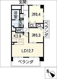 ソレイユ G棟[2階]の間取り