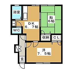 メゾンNAKAYAMA[1階]の間取り