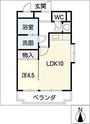 エポラール白壁[2階]の間取り