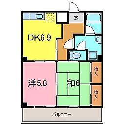 レジデンス横山[502号室]の間取り
