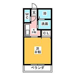 ベルフラット[2階]の間取り