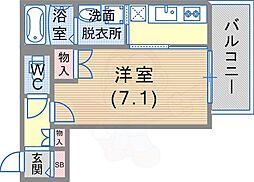 阪急神戸本線 王子公園駅 徒歩2分の賃貸一戸建て 2階1Kの間取り