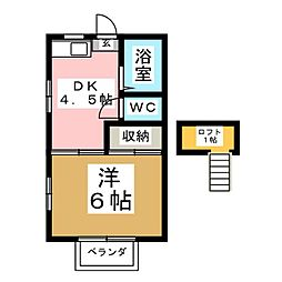 越路第1コーポナバタ[2階]の間取り