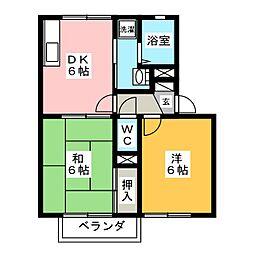 ヴィラ入山瀬[2階]の間取り
