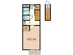 サングリーン[2階]の間取り