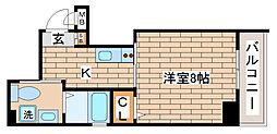 兵庫県神戸市長田区浪松町2丁目の賃貸マンションの間取り