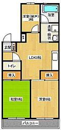コーワコーポ[3階]の間取り