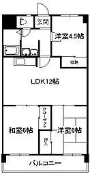 日恵コーポ[3階]の間取り
