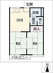 タウニー藤根[2階]の間取り