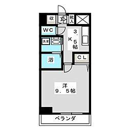 ノーブルハイム岡山[2階]の間取り