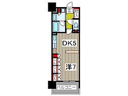 スパシエルクス西川口 6階1DKの間取り