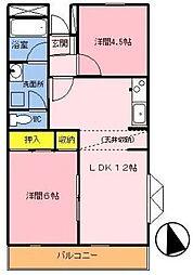 神奈川県横浜市都筑区荏田東3丁目の賃貸マンションの間取り