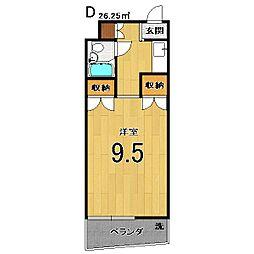 カドノ・スクリーン82[402号室]の間取り